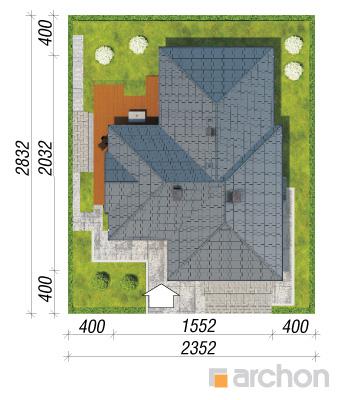 projekt Dom w bergeniach 2 sytuacja