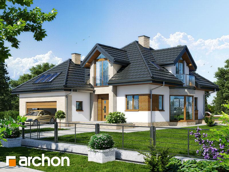 Projekt: Dom pod wiązowcem (N) ver.2 Wizualizacja widok 1