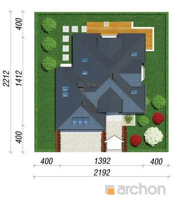 projekt Dom pod wiązowcem (N) sytuacja