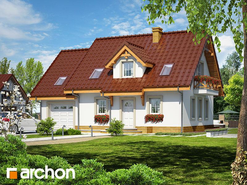 Projekt: Dom w poziomkach 4 ver.2 Wizualizacja widok 1