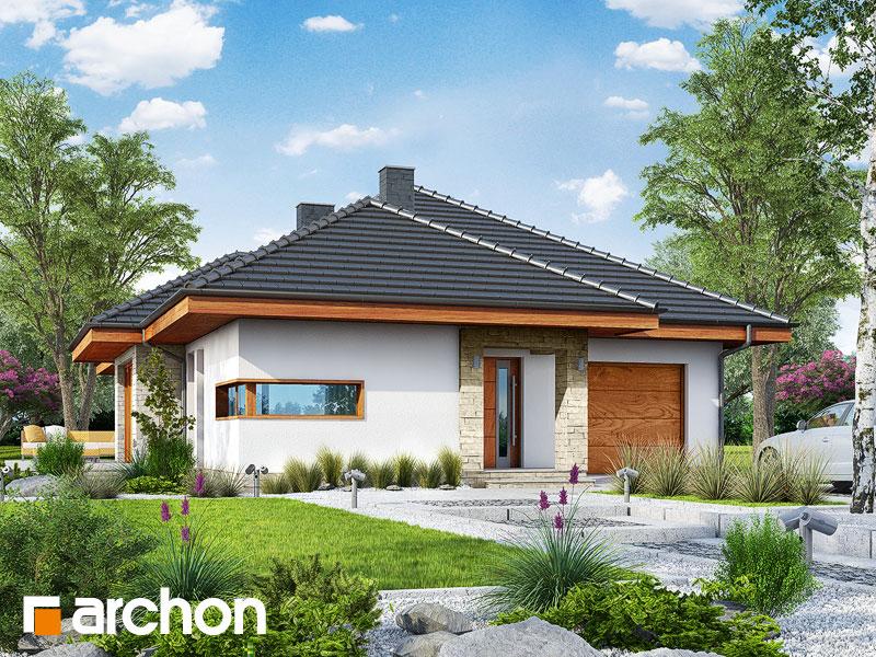 Projekt: Dom w cyprysikach ver.2 Wizualizacja widok 1