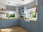 projekt Dom w tymianku Aranżacja kuchni 1 widok 1