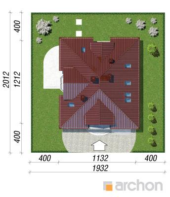projekt Dom w tymianku sytuacja