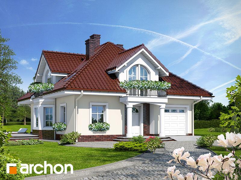 Projekt: Dom w tymianku ver.2 Wizualizacja widok 1