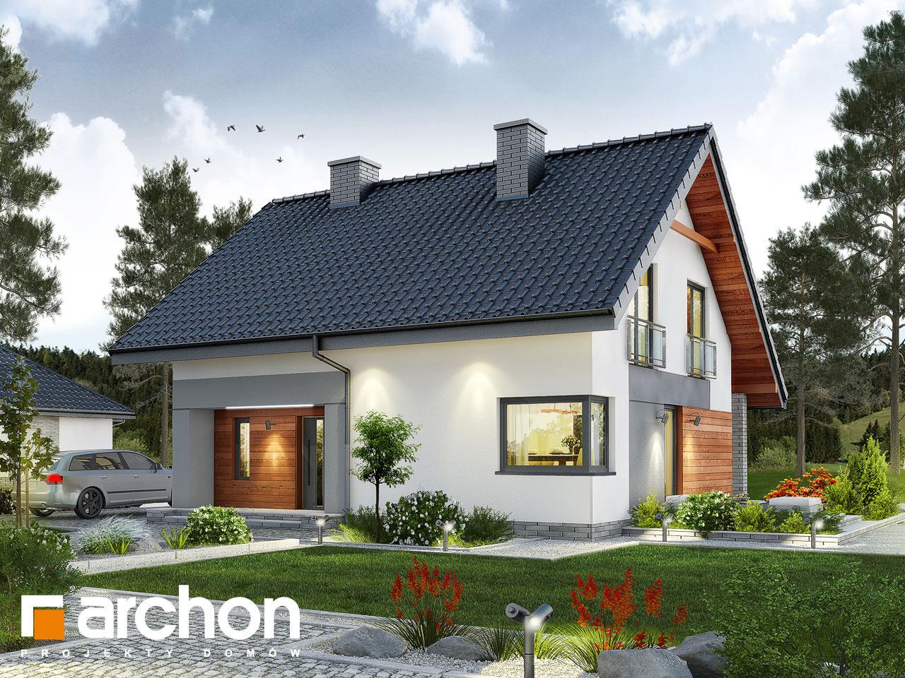 projekt domu dom w malin wkach archon. Black Bedroom Furniture Sets. Home Design Ideas
