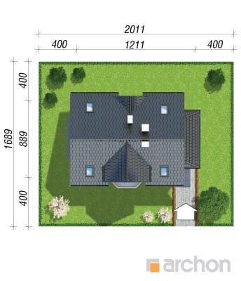 projekt Dom w żurawinie sytuacja
