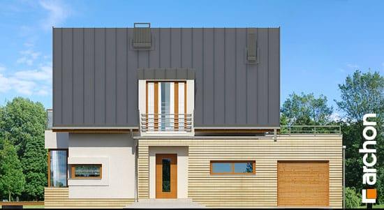Elewacja frontowa projekt dom w kardamonie ver 2  264