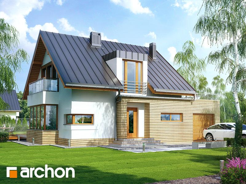 Projekt: Dom w kardamonie ver.2 Wizualizacja widok 1