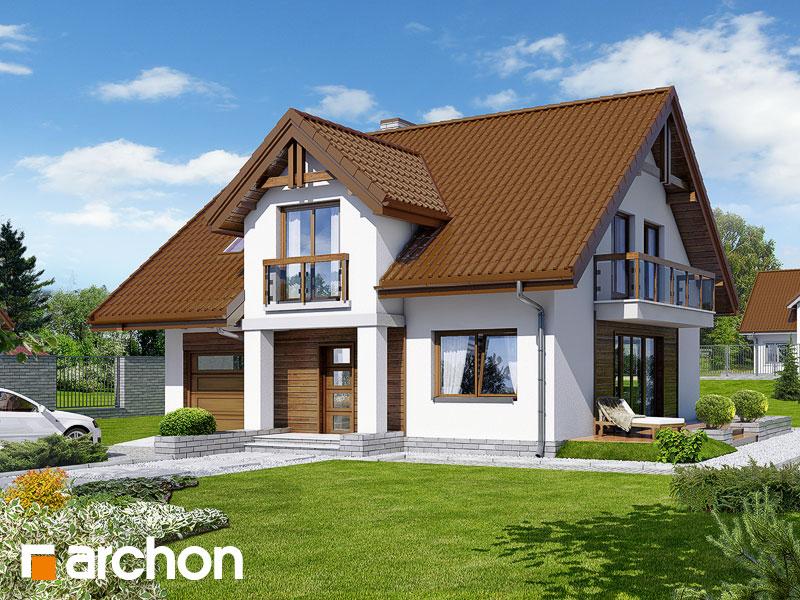 Projekt: Dom w asparagusach (PN) ver.2 Wizualizacja widok 1