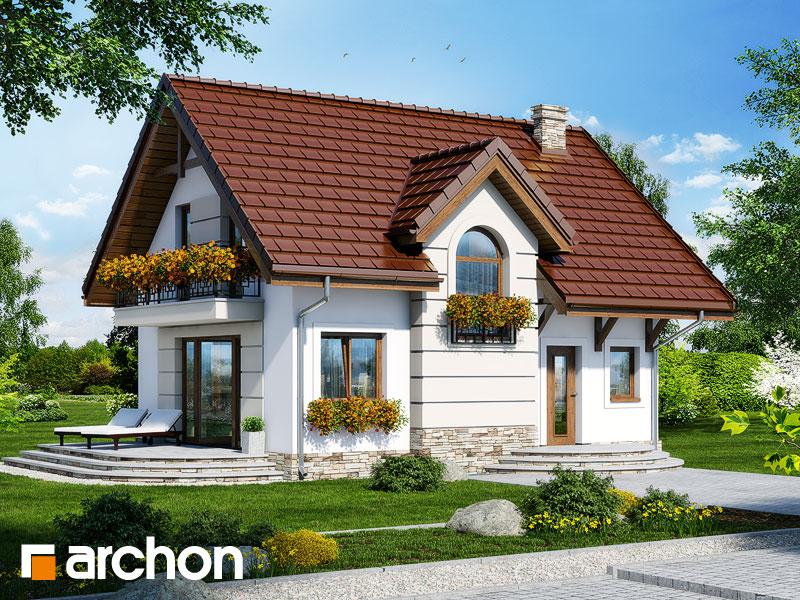 Projekt: Dom w lukrecji 4 ver.2 Wizualizacja widok 1