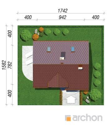 projekt Dom w lukrecji 4 sytuacja
