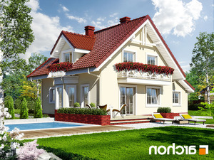 projekt Dom w rododendronach 4 lustrzane odbicie 2
