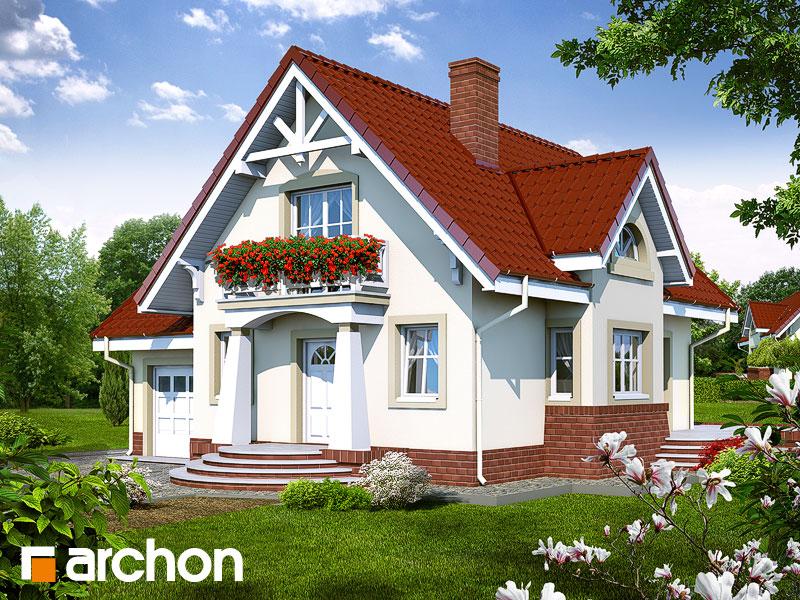 Projekt: Dom w morelach ver.2 Wizualizacja widok 1