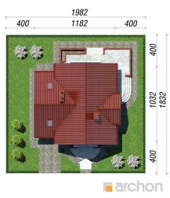 projekt Dom w morelach sytuacja
