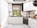 projekt Dom w rododendronach 6 (P) Wizualizacja kuchni 1 widok 3