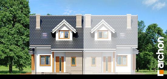 Elewacja frontowa projekt dom w cyklamenach 2 ver 2  264