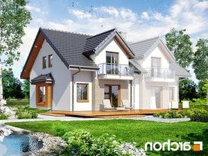 projekt Dom w cyklamenach 2 lustrzane odbicie 2