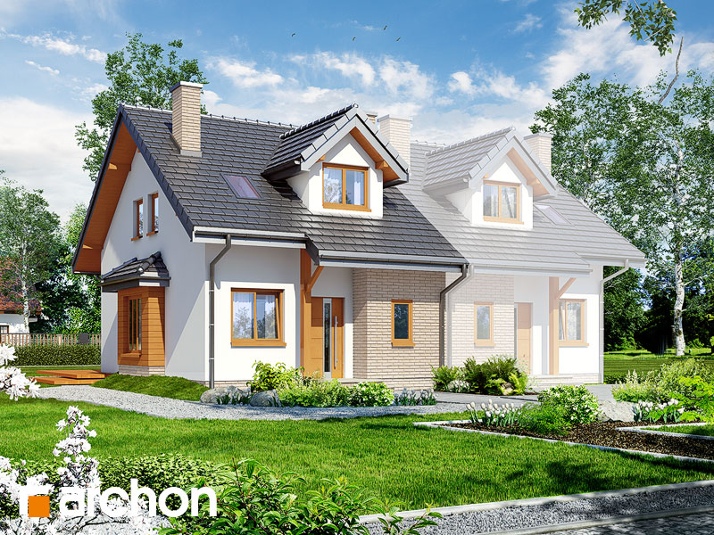 Projekt: Dom w cyklamenach 2 ver.2 Wizualizacja widok 1