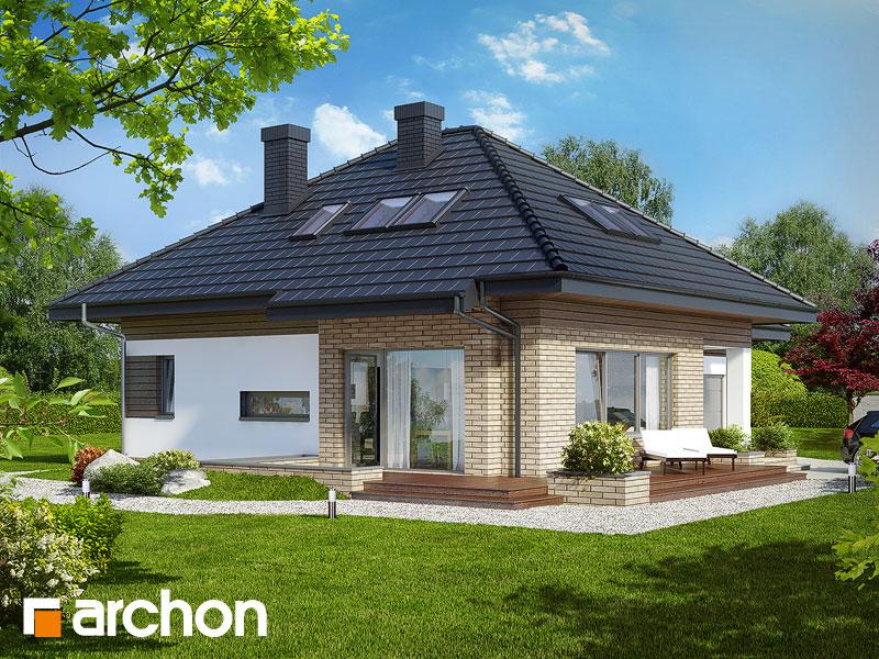 Projekt: Dom w lilakach (GPD) ver.2 Wizualizacja widok 1