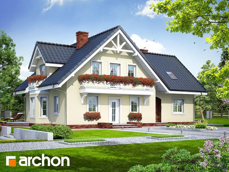 Projekt: Dom w borowikach ver.2 Wizualizacja widok 1