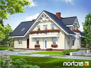 projekt Dom w borowikach lustrzane odbicie 1