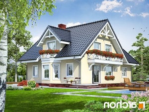 projekt Dom w borowikach lustrzane odbicie 2