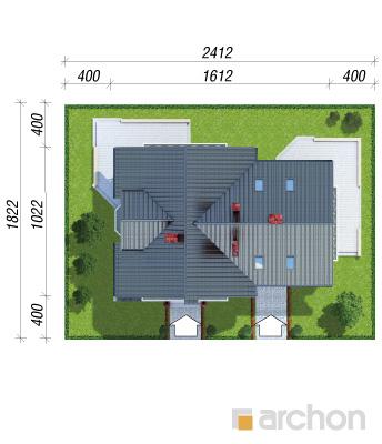 projekt Dom w borowikach sytuacja
