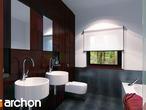 projekt Dom pod jarząbem (N) Wizualizacja łazienki (wizualizacja 3 widok 1)
