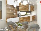 projekt Dom w amarylisach Aranżacja kuchni 1 widok 1