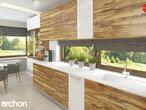 projekt Dom w amarylisach Aranżacja kuchni 1 widok 2
