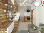 projekt Dom w amarylisach Aranżacja kuchni 1 widok 3