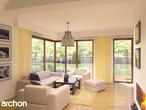 projekt Dom w amarylisach Strefa dzienna (wizualizacja 2 widok 1)