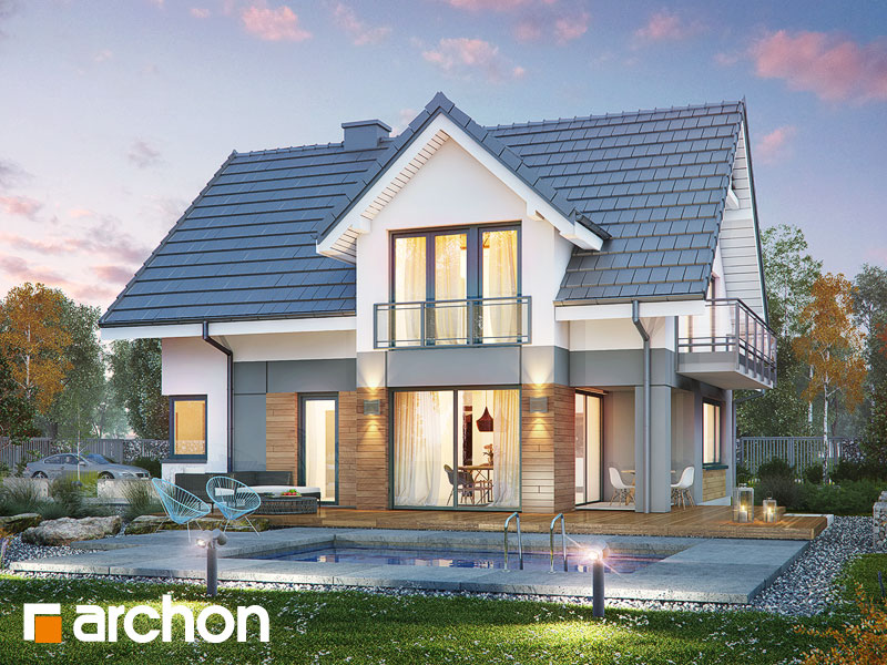 gotowy projekt Dom w orliczkach (G2A) widok 1