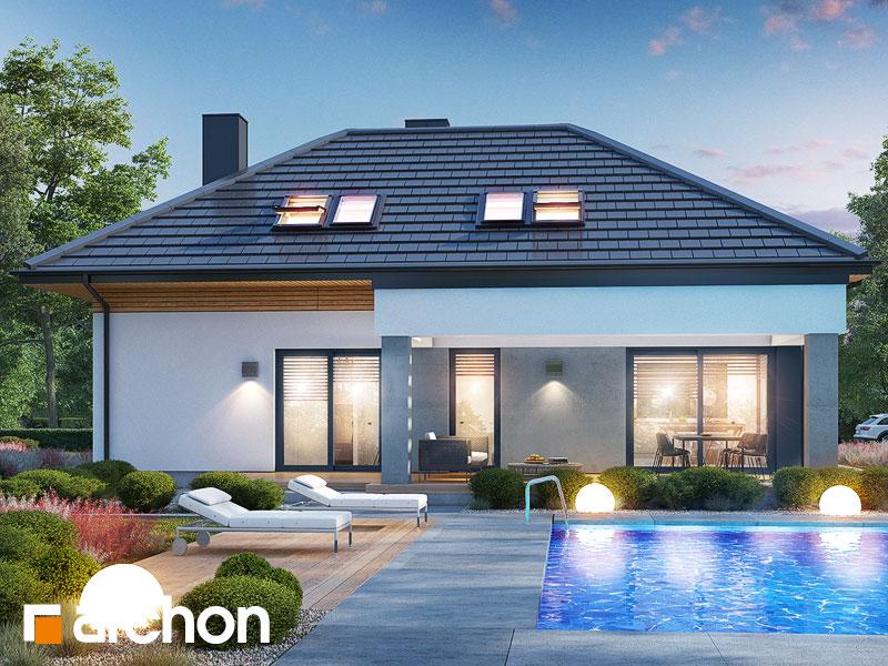gotowy projekt Dom w przebiśniegach 16 (G2) widok 1