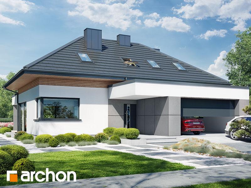 gotowy projekt Dom w przebiśniegach 16 (G2) widok 2