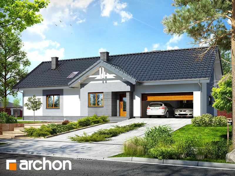 projekt domu dom w nerinach 2 g2 archon. Black Bedroom Furniture Sets. Home Design Ideas