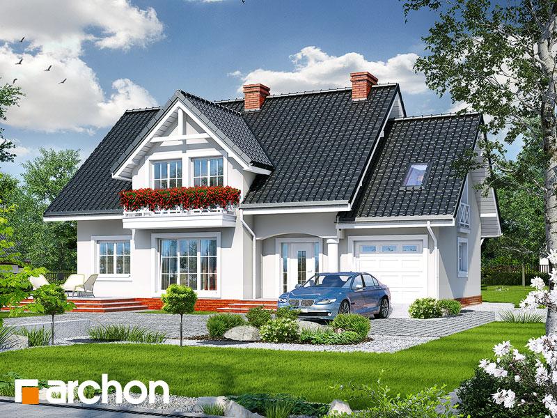 gotowy projekt Dom w lubczyku 2 widok 1