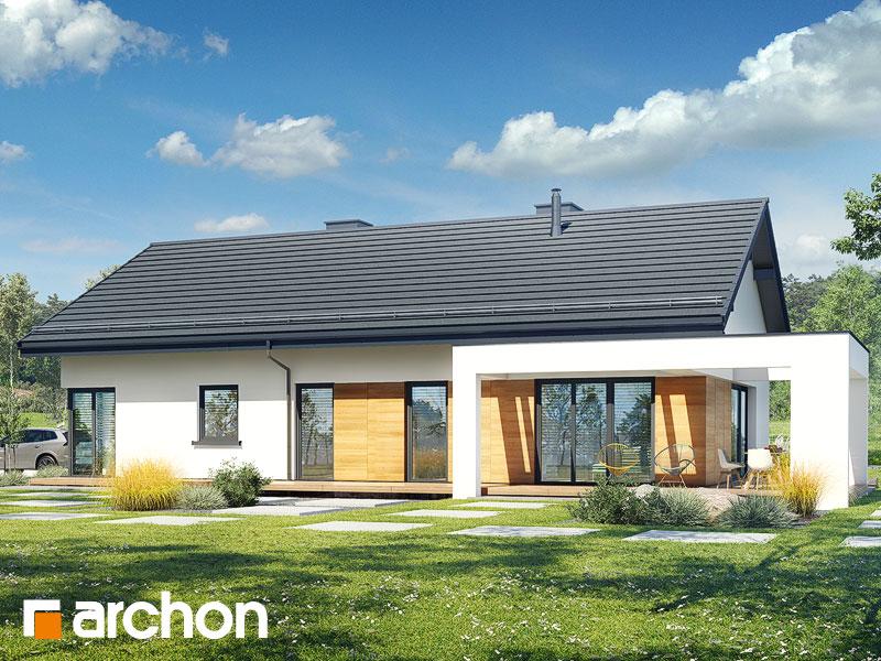 gotowy projekt Dom w barwinkach 2 widok 1
