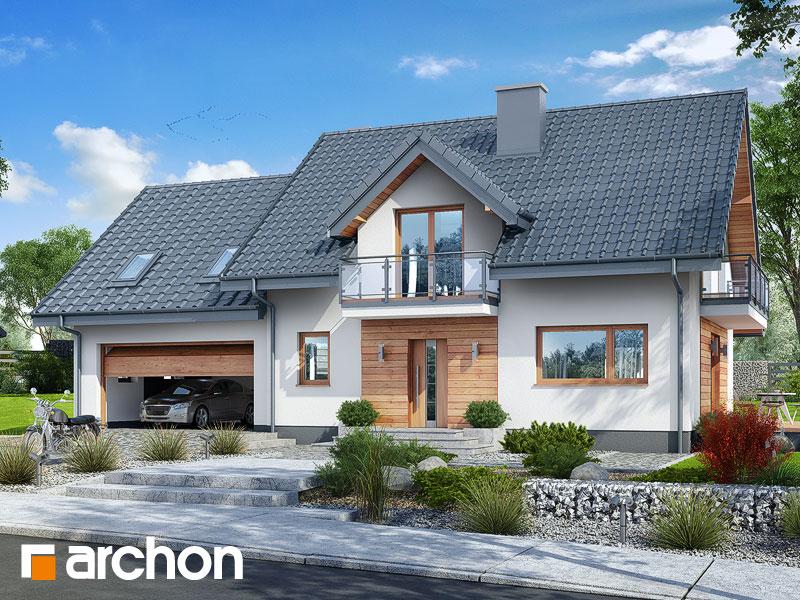 gotowy projekt Dom w czerwonokrzewach (G2) widok 1