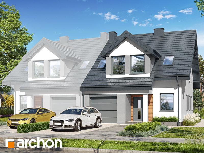 gotowy projekt Dom w klematisach 7 (BA) widok 1