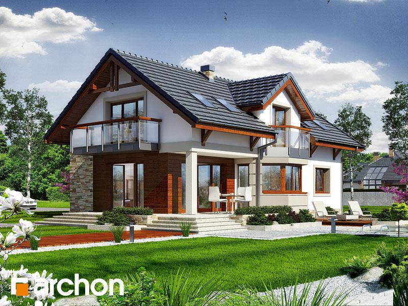 gotowy projekt Dom pod mahoniowcem widok 1