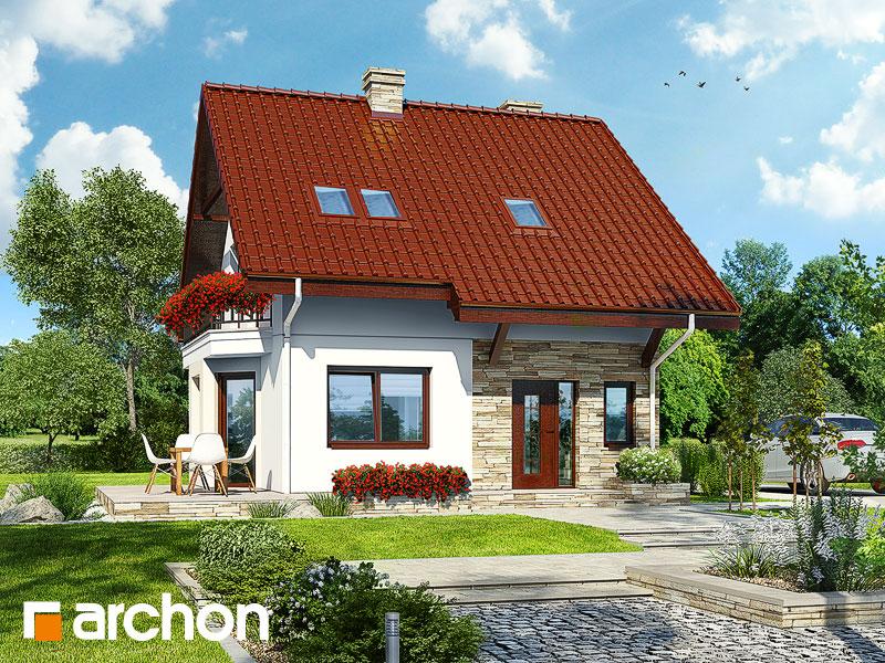 gotowy projekt Dom w kamach widok 1