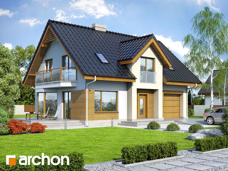 gotowy projekt Dom w aksamitkach 2 (N) widok 1