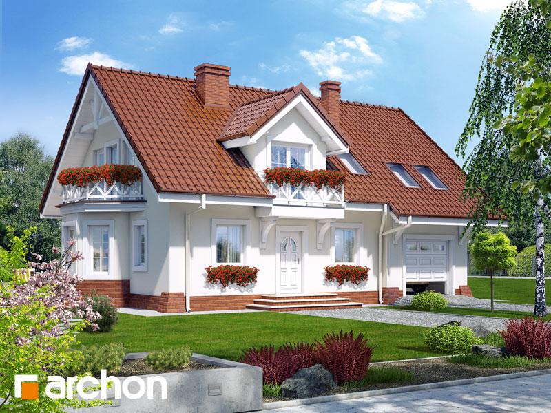 gotowy projekt Dom w rododendronach 8 widok 1