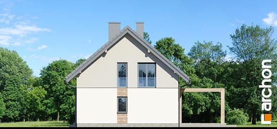 Elewacja boczna projekt dom w silene  265