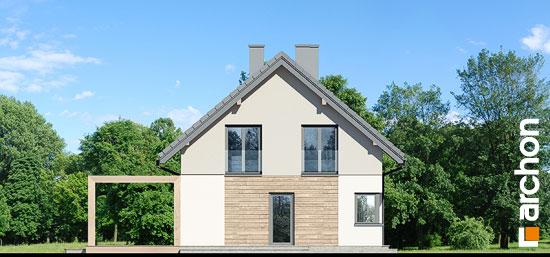 Elewacja boczna projekt dom w silene  266