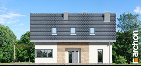 Elewacja frontowa projekt dom w silene  264