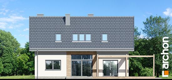 Elewacja ogrodowa projekt dom w silene  267