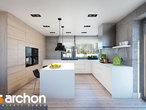 projekt Dom w silene Wizualizacja kuchni 1 widok 1