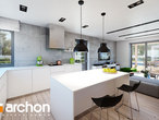 projekt Dom w silene Wizualizacja kuchni 1 widok 2